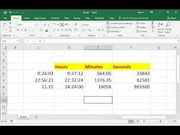 Ms Excel How To Convert Time Into Hours Minutes Seconds