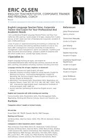 English Teacher, Coach/Tutor Resume samples