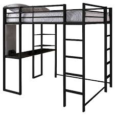 Black metal bunk bed Double Deck Adele Loft Bed With Desk full Black Room Joy Target Adele Loft Bed With Desk full Black Room Joy Target