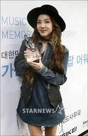 Gaon Chart Kpop Awards 2015 Press Photos 150128 Gorgeous Dara At 4th Gaon Chart K Pop