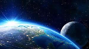 Sunrise in Space Earth Moon Amazing 4K ...