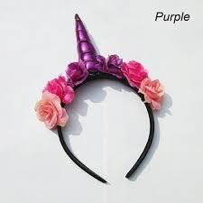 wish 1pc children unicorn horns headband for girls and kids 2017 padded unicorn headband hair accessories flowers diy party wa