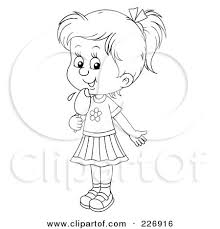 Small Picture Coloring Page Outline Of A Girl Licking A Popsicle Posters Art