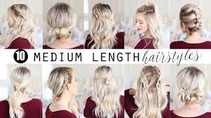 Ten Medium Length Hairstyles Twist Me Pretty Youtube