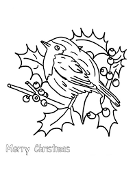 Small Picture Christmas Floral Arrangements and Robin Bird Coloring Page
