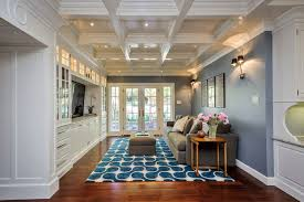 view in gallery colorful blue and white modern rug