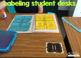 using numbers on student desks is a great way to have students know where their desk