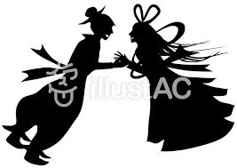 織姫と彦星のシルエットイラスト No 182129無料イラストなら