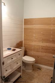 powder bathroom plank walls a sneak