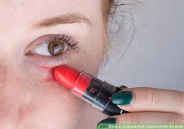 covering with lipstick image led conceal dark circles under the eyes step 5