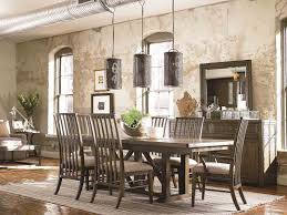cheerful home furniture dining room pedestal table rectangular brown hardwood tables high back trellis chairs and