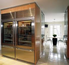 Eleven Contemporary Kitchen Glass Front Refrigerator Kitchen Contemporary With Painted