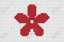 Flower Pixel Art Graph Paper Art Pixel Art Art