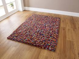 multi coloured gy rug tremendous modern hand knotted 100 wool floor thick pebble effect large home