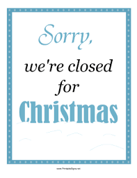 Closing Early Sign Template Business Signs