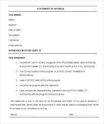 Witness Statement Templates 8 Free Printable Word Pdf
