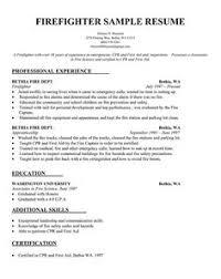 ideas about firefighter resume on pinterest   sample resume    resume sample   firefighter resume template