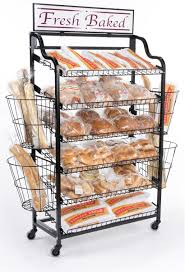 Bakery Display Stands Bakery Displays W Side Baskets Tilting Shelf Space 23