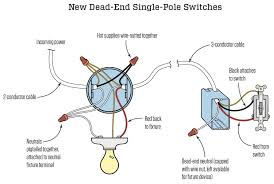 dead end single pole switches jlc online electrical, electrical single pole switch wiring diagram dead end single pole switches jlc online electrical, electrical codes