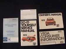 service manual chevy 1972 chevy vega original owners manual w diy chevrolet service guide books set