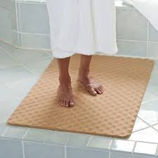 brilliant wonderful natural cork bath mat the green head with regard to heated inside heated bath mat