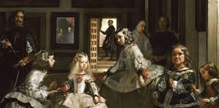 in the fake version the lady in the white dress is very tall whereas in the real version she is a young small girl warm painting the clothed maja