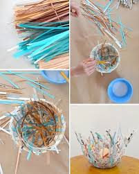 art and craft ideas for adults at home. paper bird nest craft for easter art and ideas adults at home