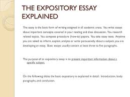 expository essay sophomore essay ppt video online the expository essay explained