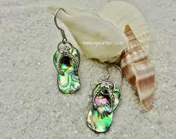abalone flip flop earring erff8
