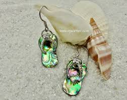 back to abalone jewelry abalone flip flop earring erff8