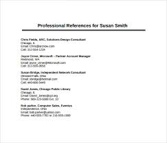 Sample Professional References Page 26 Images Of Sample Professional References Page Template