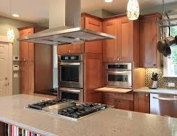 Astonishing Kitchen Island Stove Ideas with Bookcase Under Island