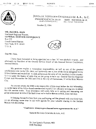 aa archive a letter from a a to jacob ham on oct 12 1994 a letter from jim estelle jr to bob 0n oct 23 1994