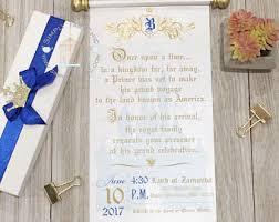 royal invitation etsy Handmade Wedding Invitations Etsy royal prince baby shower scroll wedding invitation vow renewal invitation birthday wedding invitation handmade Elegant Wedding Invitations