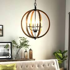 sphere chandelier wood modern sphere chandelier lighting globe 4 lights wood ceiling fixture round rustic orb