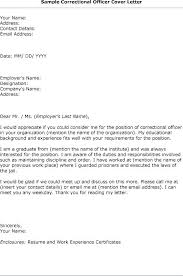 Corrections Office Cover Letter Template Prison Officer