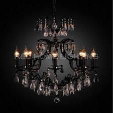 china venetian glass moda black modern art deco chandelier 5 lights