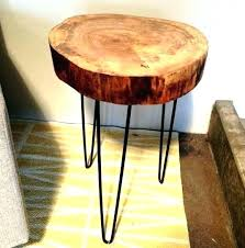 live edge wood top side table wood slab side table live edge awesome natural round night