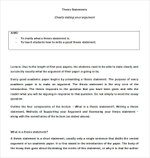 Template Of Statement Thesis Statement Template Template Business