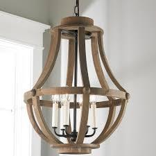 rustic wood basket lantern large