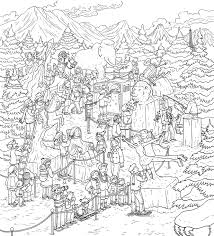 Landscape Coloring Pages For Adults To Print Scenery With Free