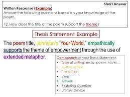 Extended Analogy Essays