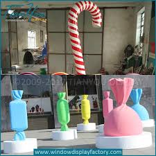 Big Candy Cane Decorations Custom christmas big candy cane decoration │China Display Porps Maker 52
