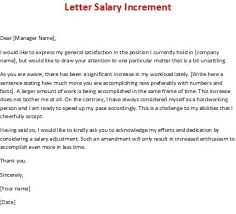 Salary Letters From Employer 10 Salary Increase Letter To Employer Salary Format