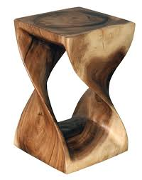 modern rustic wood furniture. Asian Art Imports - Van Nuys, CA, United States. Twist Stool Carved In Acacia Wood From Modern Rustic Furniture