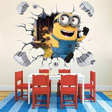 despicable me decal wall stickers