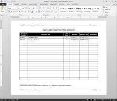 Hr Document Control Database Template Adm103 3