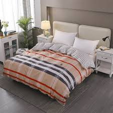 color stripe pattern 1 piece duvet cover with zipper cotton soft quilt or comforter or blanket