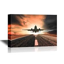 wall26 flight canvas wall art retro style art with airplane taking off gallery wrap on flight canvas wall art with amazon wall26 flight canvas wall art retro style art with