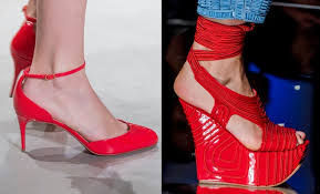 Scarpe estive rosse
